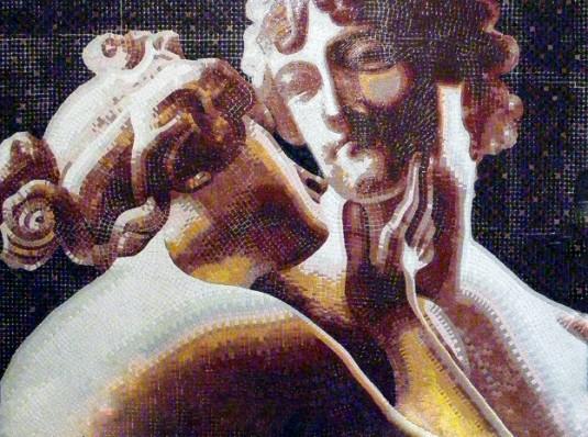 Venere e Adone, mosaic