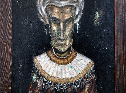 Mummy, 2001-2012, 80x60cm, mixed technique on canvas