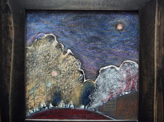 Night 2, 2005, 30x30cm, pastel on cardboard