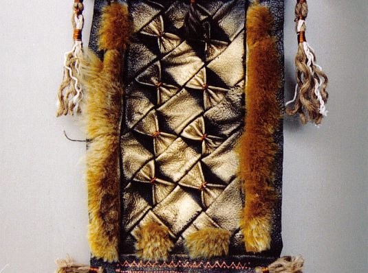 The sun, 2002, 30x20cm, leather, fur