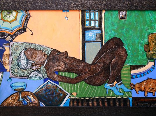 Sleep I, 2004 120x90cm, mixed technique on cardboard