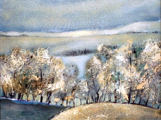 Winter, 2003, 50x50cm, oil on cardboard