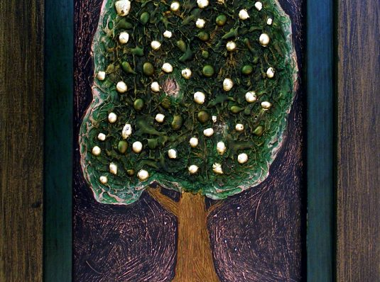 The golden apple tree, 2008, 30x20cm, mixed technique on cardboard