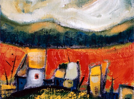 Yellow Hill, 2002, 25x25cm, oil on canvas