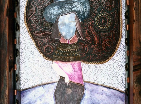 Fashion, 2004, 25x15cm, mixed technique on cardboard