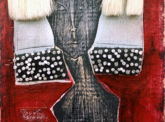 Blonde hair girl, 2004, 30x20cm, mixed wood technique