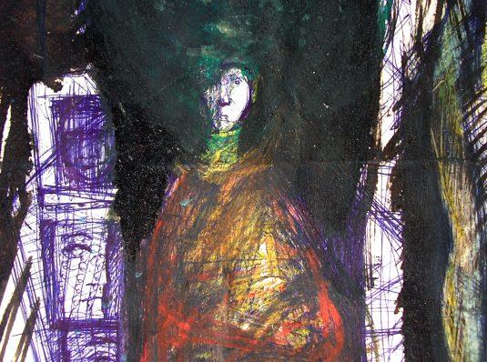 Portrait, 2005, 29x20cm, pen and pencil on paper