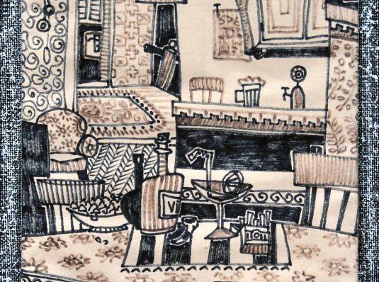 Room, 2004, 30x20cm, paper marker
