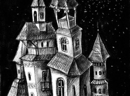 Noaptea, 2017, desen pe Samsung Galaxy Note 8