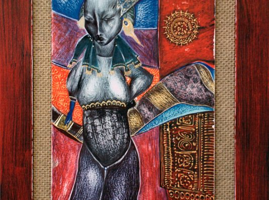 Black Queen, 2003, 30x20cm, Mixed Technique