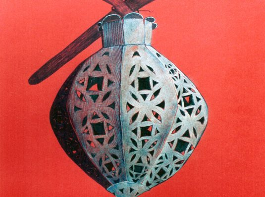 Gold lantern, 2003, 30x20cm, graphics