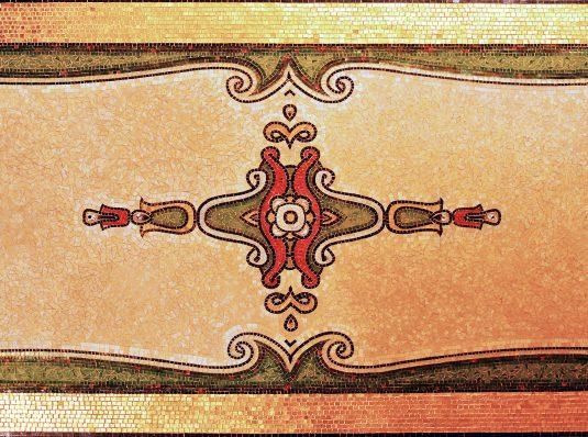 Art Nouveau mosaic